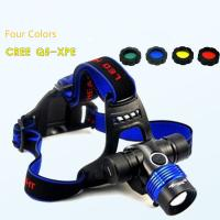 Wholesale 18650 Rechargeable Zoomable 3 Gears CREE Q5/ T6-L2 High Brightness Headlamp/Head Light from china suppliers