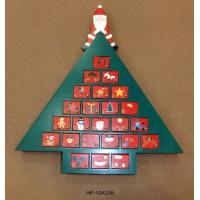 Buy cheap Designed Christmas Advent Calendar With Santa Claus & 24 Cabinets, christmas tree gifts from wholesalers