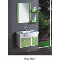 Wholesale 80 X48/cm PVC bathroom cabinet/  wall cabinet /white color with mirror for bathroom from china suppliers