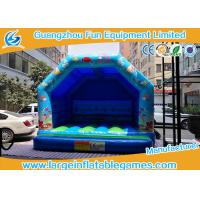 Wholesale Blue Small Bouncy Castle For Trampolines And Structures / Inflatable Jumping Castle from china suppliers