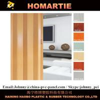 Wholesale Waterproof Interior Folding Doors PVC 8mm Thickness With Rigid Hinge from china suppliers