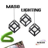 Wholesale Maso Latest Vintage Metal Pendant Lamp Iron Material Square Shape MS-I6003 E27 base from china suppliers