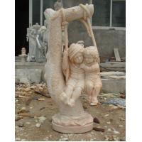 Wholesale Garden stone sculpture Boy and Girl Child Stone Statue from china suppliers