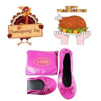 Wholesale 2018 Hot Sell Thanksgiving Gift! China Factory Wholesale Pink Flat Heel Roll up Ballerina Shoes from china suppliers