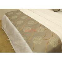 Wholesale Decorative cloth Hotel Bed Runners 100% Polyester Lavender  Jacquard from china suppliers
