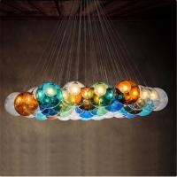 Wholesale Creative design Modern LED colorful glass pendant lights lamps for dining room living room bar led G4 96-265V glass ligh from china suppliers