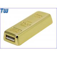 Wholesale Gold Bar 16GB USB Thumb Drive Sliding Design Heavy Solid Material from china suppliers