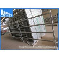 Buy cheap 6 Rails Silver Painted Cattle Livestock Corral Panels With Oval Horizontal Tubes from wholesalers