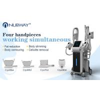 Buy cheap 4 handles cryoliplysis fat reduction slimming machine fat freezing cryo machine from wholesalers