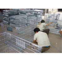 Wholesale Stackable Detachable wire mesh cages, metal storage cage container from china suppliers