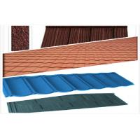 Wholesale Light Weight Stone Coated Steel Roof Tiles , Polished House Exterior Roof Tiles from china suppliers