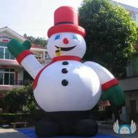 Wholesale 8m Height Inflatable Cartoon Characters Snow Man PVC Material For Advertising from china suppliers