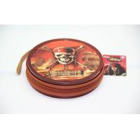 Wholesale Recyclable Zipper Round Metal Tin CD Case Pirates Of The Caribbean from china suppliers