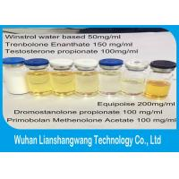 Wholesale Bodybuilding Trenbolone Steroids Tren E Yellow Liquild 100mg / ml , Semi finished Injection from china suppliers