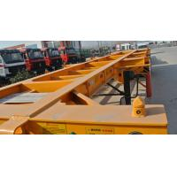 Wholesale 40ft Container Skeleton Semi Trailer Flatbed Tractor Trailer 40000kg Loading Capacity from china suppliers