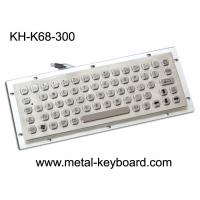 Wholesale Vandal Resistance Metal Computer Keyboard / 65 Keys Touchpad Stainless Steel Keyboard from china suppliers
