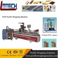 Wholesale pur WPC window frame profile wrappinglaminating machine from china suppliers