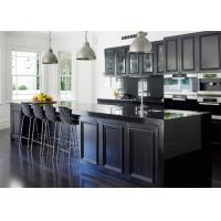 Wholesale European Pvc Kitchen Cabinets Waterproof Kitchen Units Black Color With Island Bench from china suppliers