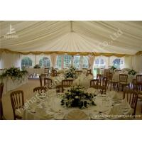 Wholesale White Fabric Cover Aluminum Profile Luxury Wedding Tents With Milk White Roof Lining from china suppliers