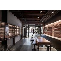 Wholesale 2016 Popular Design of industrial wind for Eyewear shop interior by weathered solid wood cabinet with black metal shelf from china suppliers