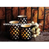 Wholesale Set of 3 Flameless LED Candles With 2 Layer Carved Pattern from china suppliers