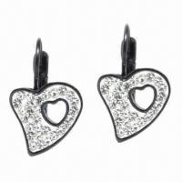 Wholesale Earrings, Made of Titanium and Zircon Materials from china suppliers