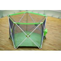 Wholesale Light Weight Fold Down Security Babies Play Yard / Green 5 Panel Play Yard from china suppliers