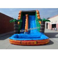 Wholesale Bright Inflatable Jumping Slide , Tropical 18 Feet Water Slide With PVC Tarpaulin from china suppliers