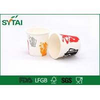 Wholesale 12Oz 90mm Hot Drink Paper Cups , Custom Printed coffee takeaway cups with Lids from china suppliers