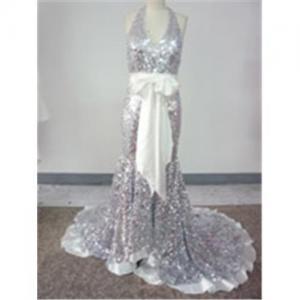 Wholesale Demi Moore Sheath / Column Strapless Sweep / Brush Train Sleeveless Chiffon Oscar/ Evening Dress OD0 from china suppliers