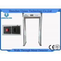 Wholesale 18/24 Multi Detecting Zones Walkthrough Metal Detector , High Level Archway Metal Detector Scanner from china suppliers