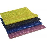 Quality Chunky Glitter Leather, Synthetic Leather, Glitter PU Leather For DIY Accessorie for sale