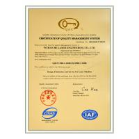 Wuhan HE Laser Engineering Co., Ltd. Certifications