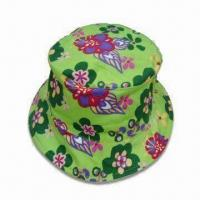 Wholesale Kids Bucket Hat with Allover Print, Made of 100% Cotton Twill from china suppliers