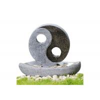 """Quality 2 LED Lights Oriental Water Fountains , Home Garden Fountain In Taiji Diagram Shape 23"""" for sale"""