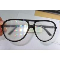 Wholesale Clear Lens Plastic Diffraction Glasses With Black Frame For Travel Site from china suppliers