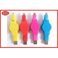 Wholesale Mobile Phone Retractable Micro USB Cable Colorful Usb2.0 , High Speed from china suppliers