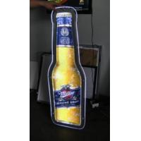 Wholesale led sign manufacturer bottle light box, unique beer bottle sign, bar bottle sign ,  bottle slim  illuminated sign from china suppliers