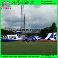 Quality New aqua park equipment inflatable island inflatable water park for sale