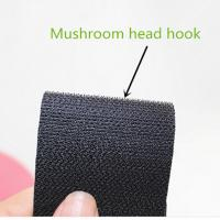 Wholesale Heavy duty Mushroom head hook and loop velcro black colour from china suppliers