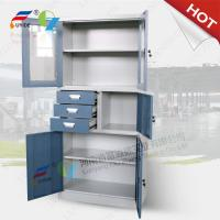 Quality office furniture storage cabinet swing glass and swing steel door FYD-W020, With shelves for sale