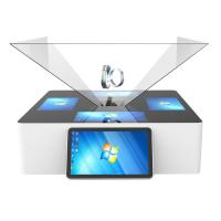 Buy cheap 180° 270° 360° 3D Holographic Display Interactive Touch Pyramid Jewelry Kiosk For Mall from wholesalers