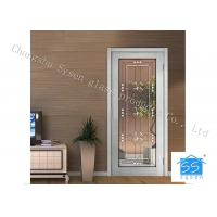 "Quality Entry Door Decorative Panel Glass 22"" * 64"" / Custom Size Steel Frame Material for sale"