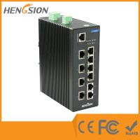 Wholesale 8 Megabit TX + 2 * 1000 Base SFP FX din rail ethernet switch web smart 10 port from china suppliers
