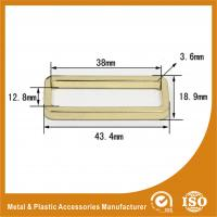 Buy cheap Diameter 38X12.8X3.6MM Metal Ring Square Handbag Accessories Gold Color from wholesalers