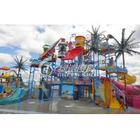 Wholesale Funny Indoor or Outdoor Aqua Playground with Fiberglass Two Spiral Water Slide from china suppliers