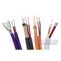 Wholesale VR-90P Solid PE RG59 CCTV Coaxial Cable , 22 AWG BC with 2 × 0.75mm2 CCA Power from china suppliers
