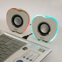 Wholesale Apple shape 50HZ USB Mini Speakers amplifier with distinct tone levels from china suppliers