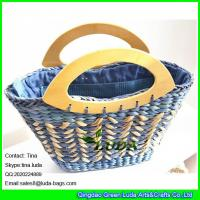 Wholesale LUDA 2016 new design cornhusk straw handbag colored cute beach bags from china suppliers