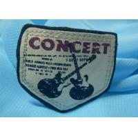 Quality Ribbon / Satin Tape Silk Screen Printing Labels Screen Printed Tags Professional Design for sale